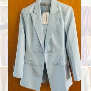 Female Fashion suit new high quality sky blue